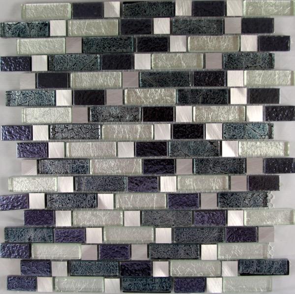 Confusious Black mosaic tiles