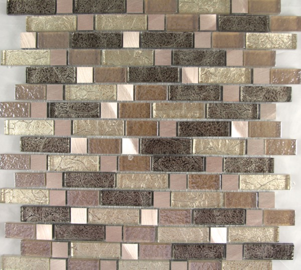 Confusious Bronze Tiles mosaic bronze & cream tiles
