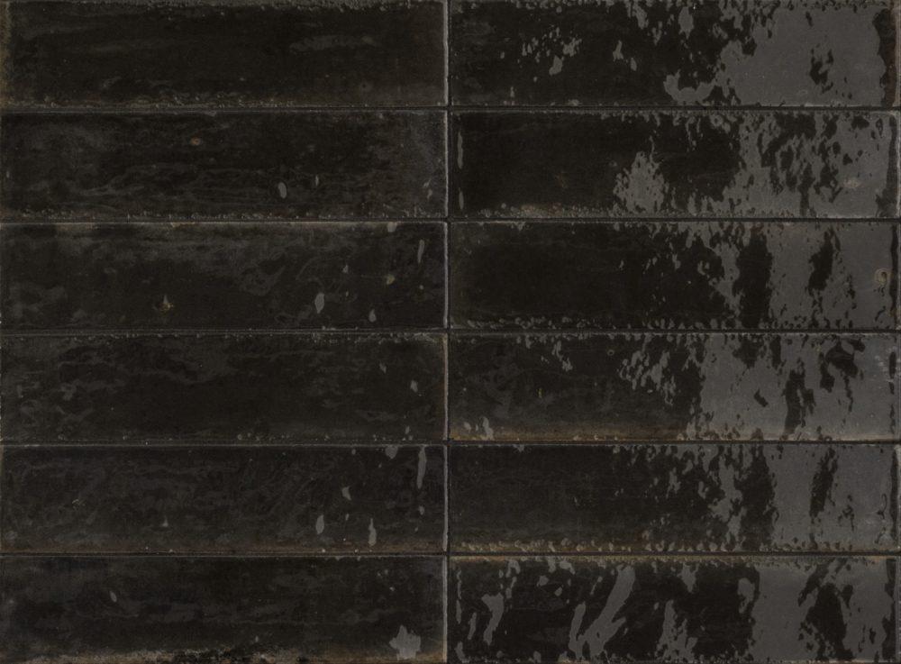 lume black glazed metro tiles
