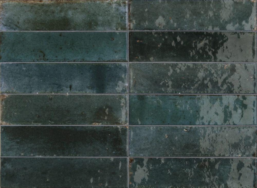 Lume Glazed Blue Metro Tiles