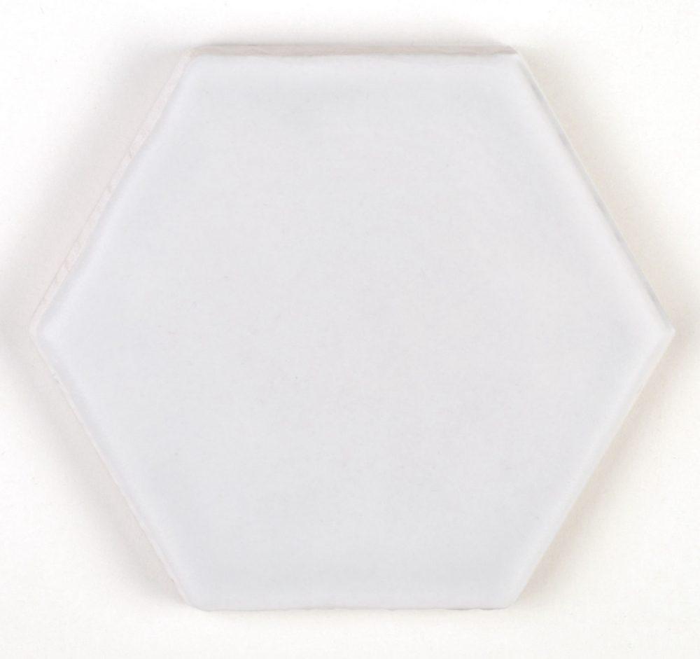 Art Deco Hex White Matt Tiles