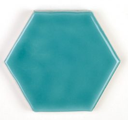 Art Deco Hexagon Aqua Marine