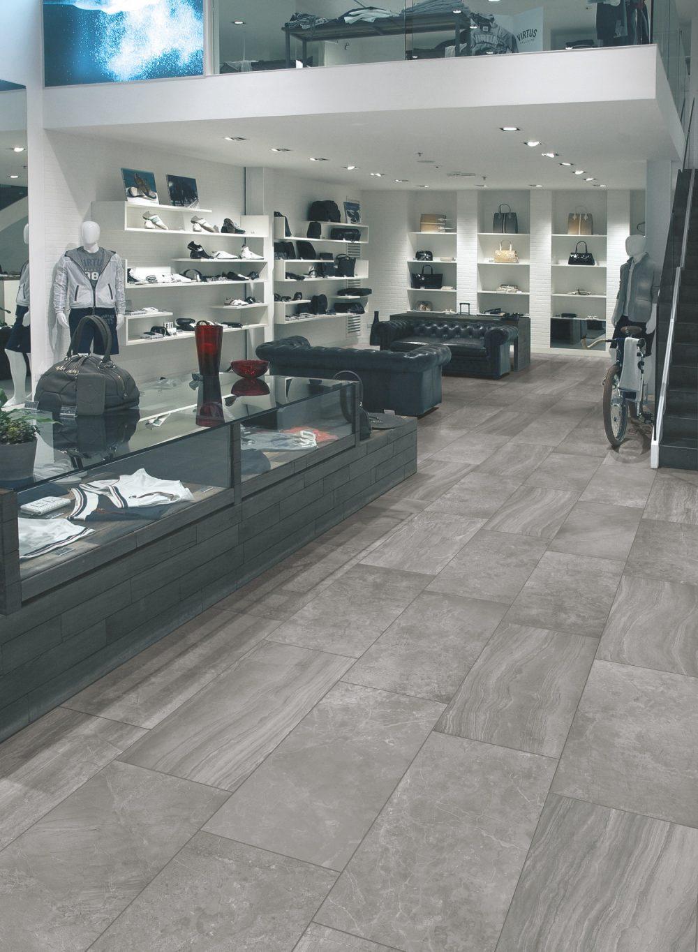 grey oblong marble effect floor tiles