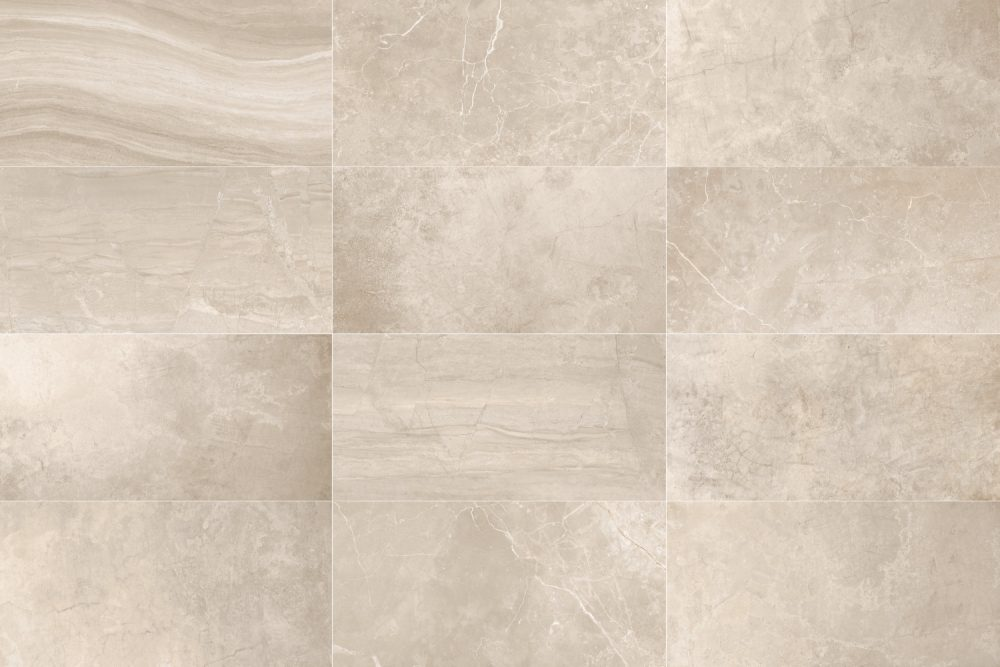 Blast oblong beige floor Tiles