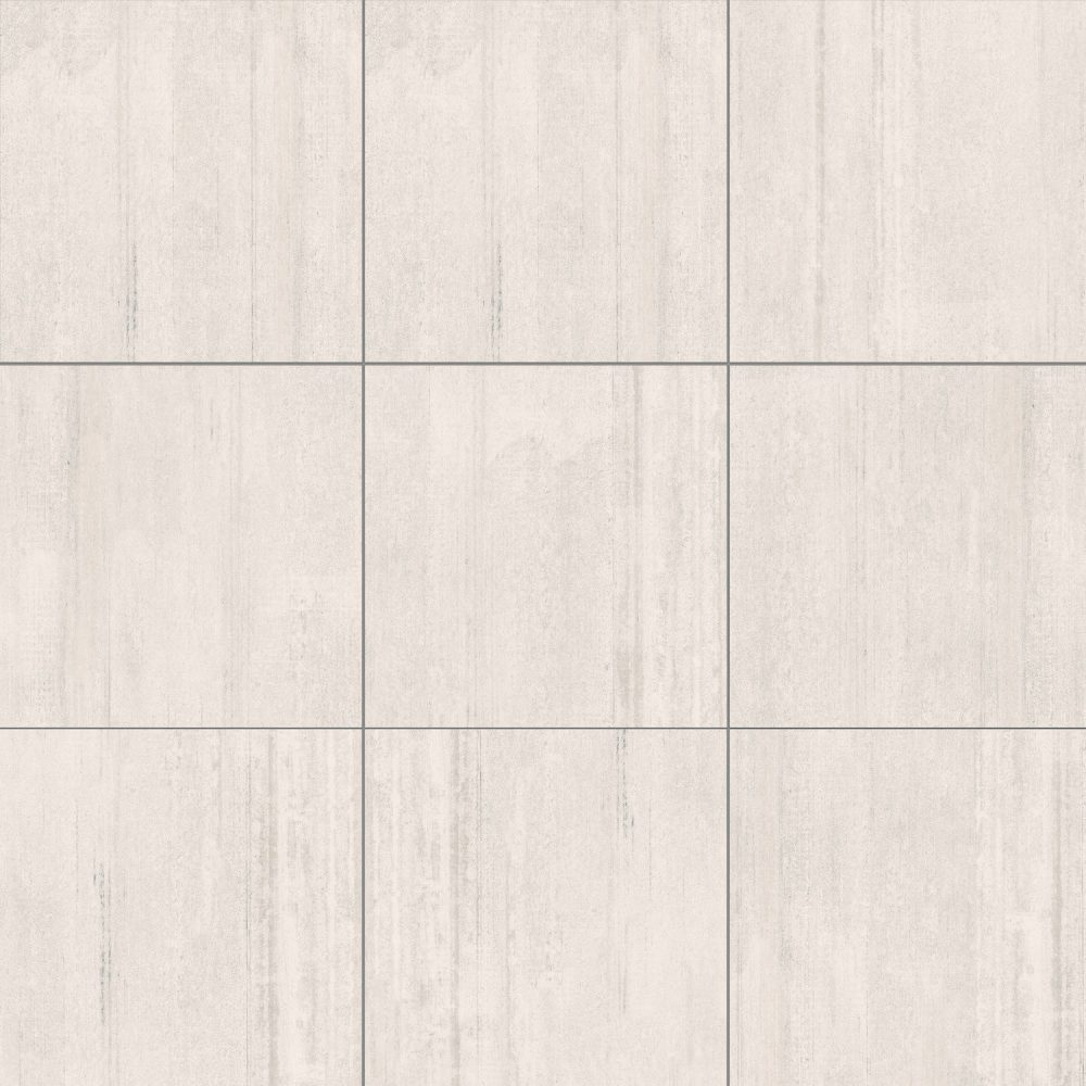 cement effect white shaved tiles