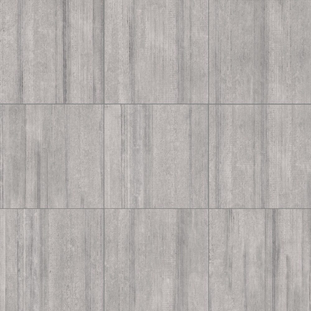 light grey cement effect square shaved tiles