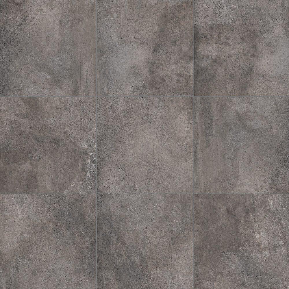 cement effect dark grey tiles