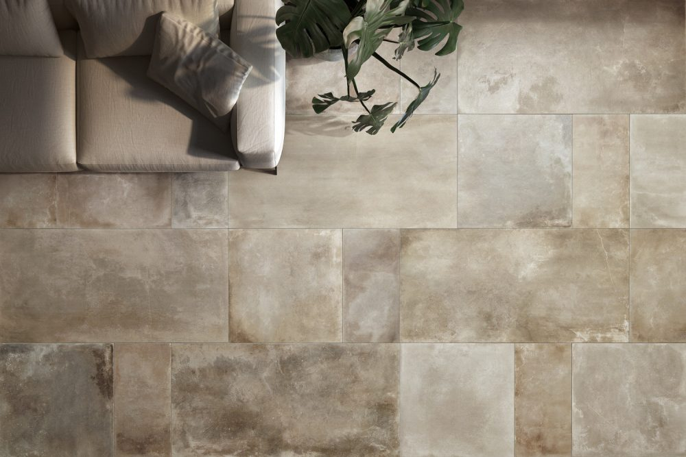 cocoon stone effect tiles - multi colour