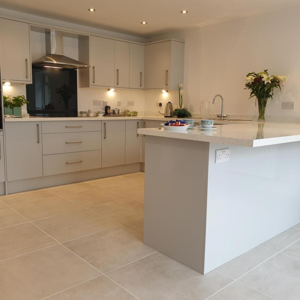 dust white cement effect floor tiles