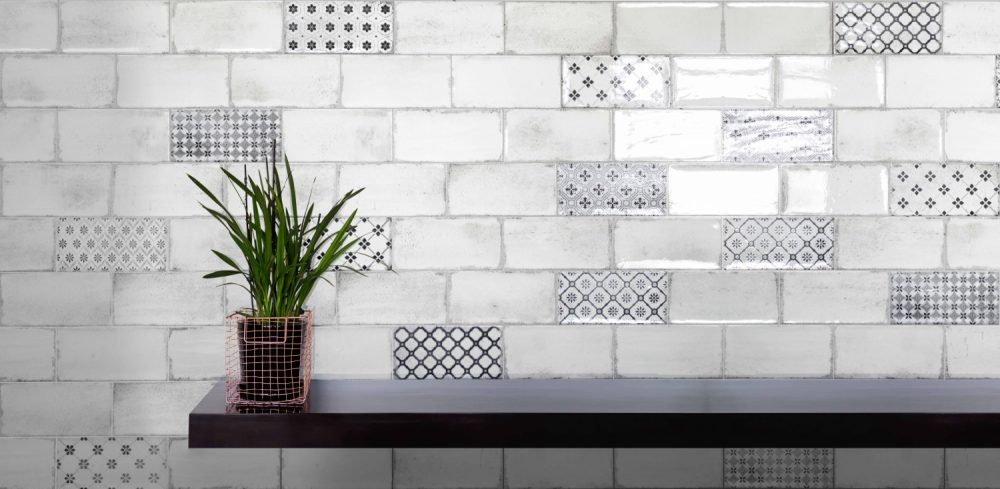 harewood profusion patterned metro tiles