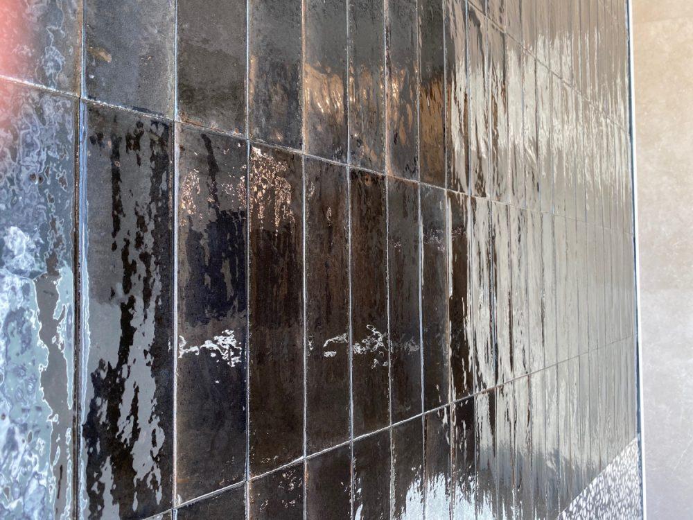 lume black gloss metro tiles
