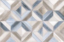 Mist Geometry Grey Blue Decor