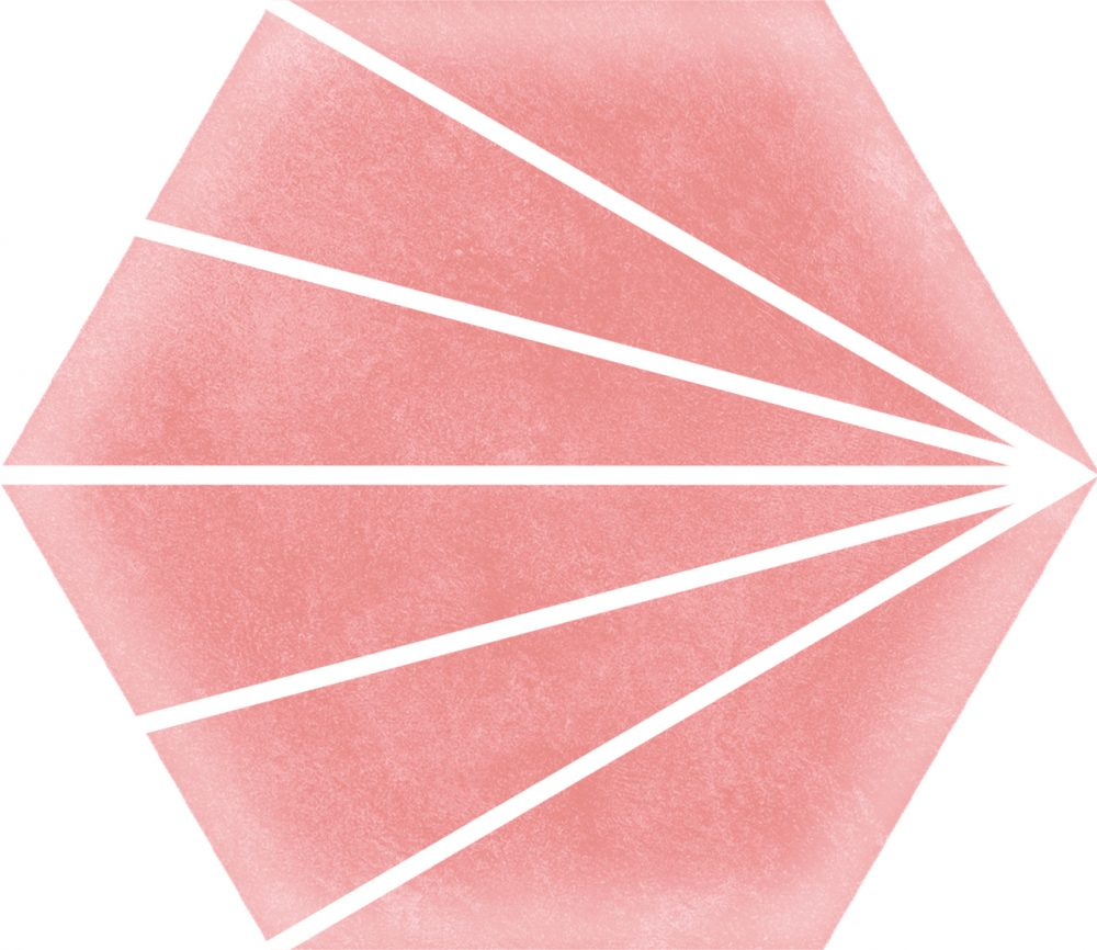 Stripes Pink Hexagon Tile
