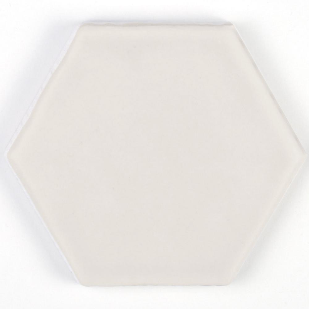 Art Deco Hexagon Vanilla Small Gloss Hexagon Tiles