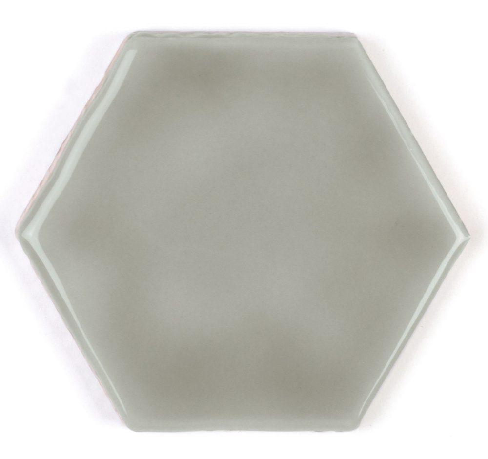 Art Deco Hexagon Chameleon Small Gloss Hexagon Tiles