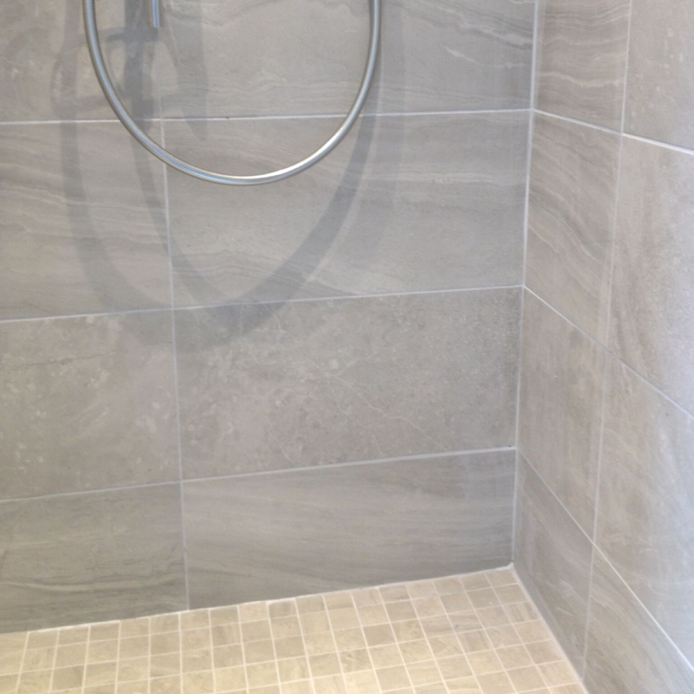 Blast Bianco Mosaic and blast plain wall tiles