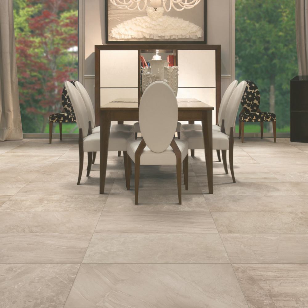Blast Taupe - large beige floor and wall tiles