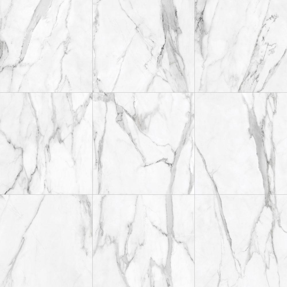 Beta White Lappato Floor - marble effect floor tile