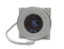 Warmtoes RS Wi-Fi round thermostat Black