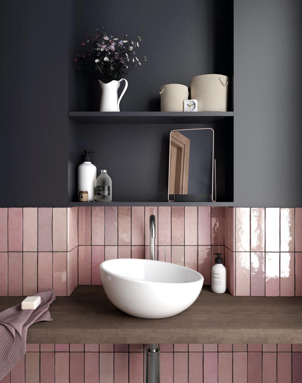 pink metro wall tiles