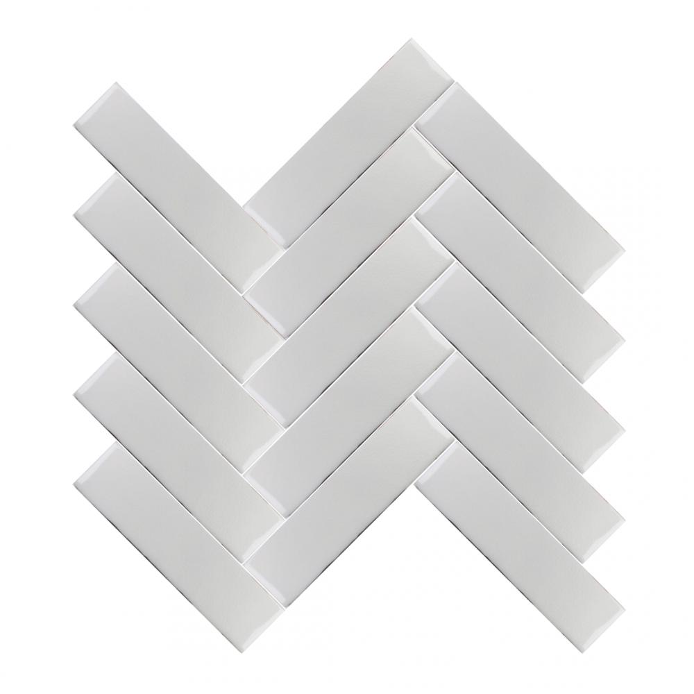 Amadis Ivory Wall tiles in herringbone pattern