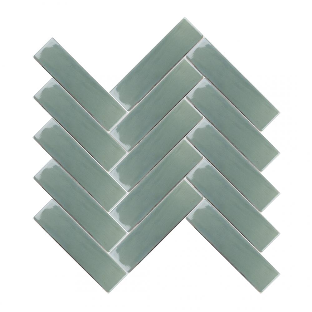 Amadis Lagoon Wall tiles in herringbone pattern