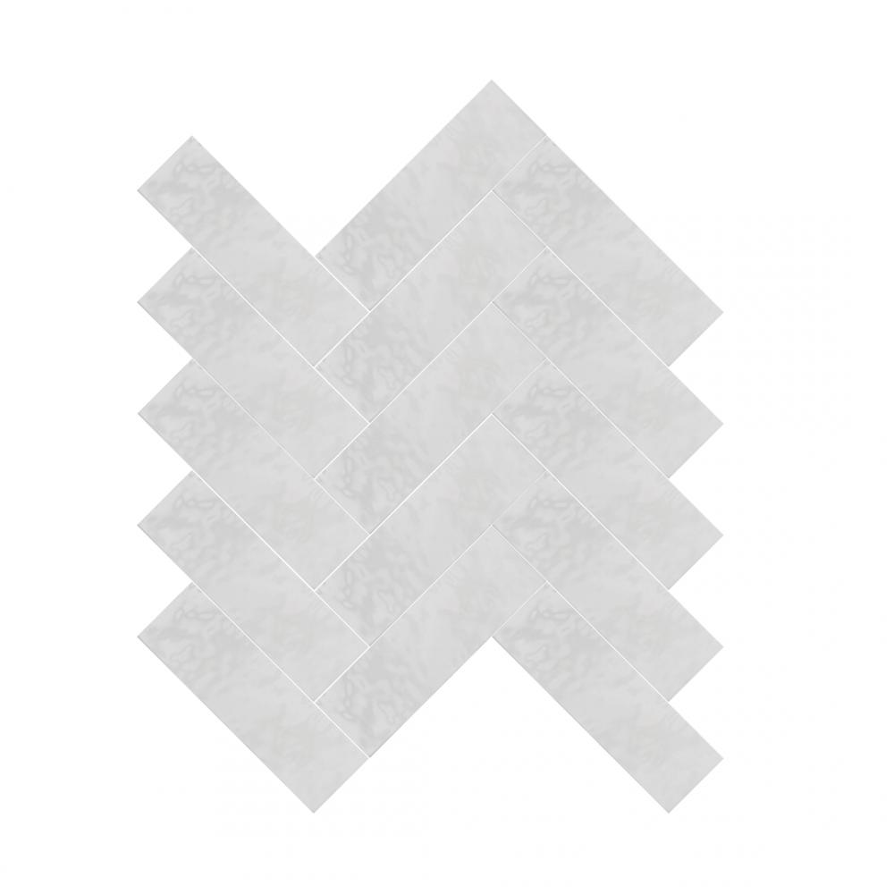 Cezanne White tiles in herringbone pattern