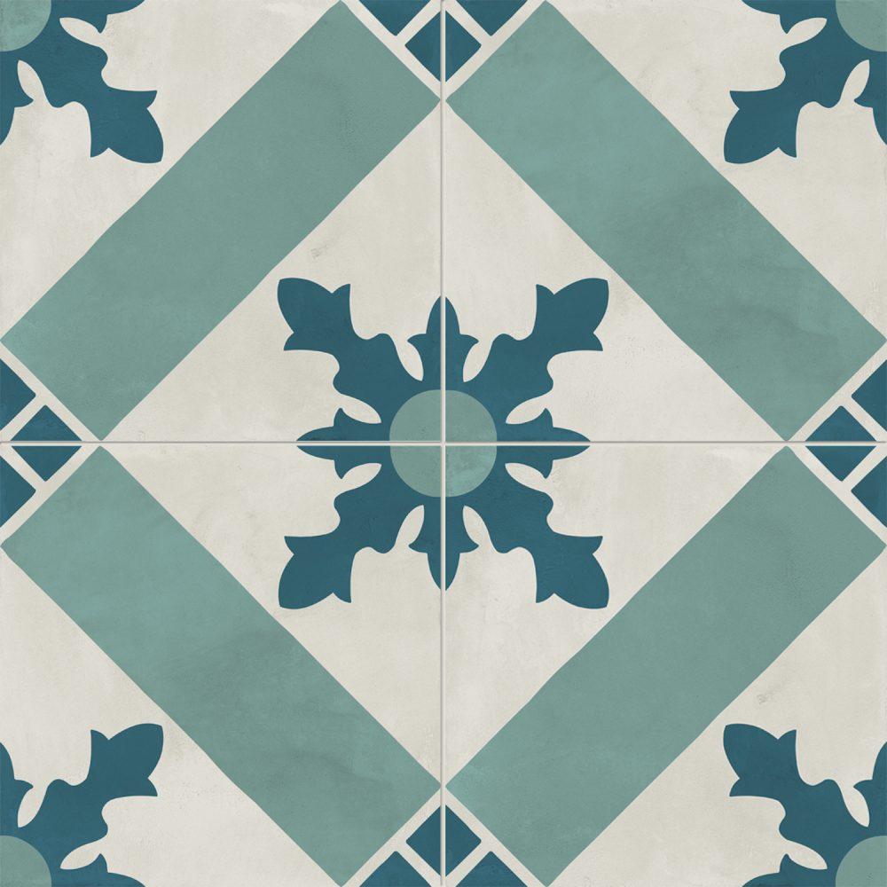 Sage Green Patterned Victorian Tile