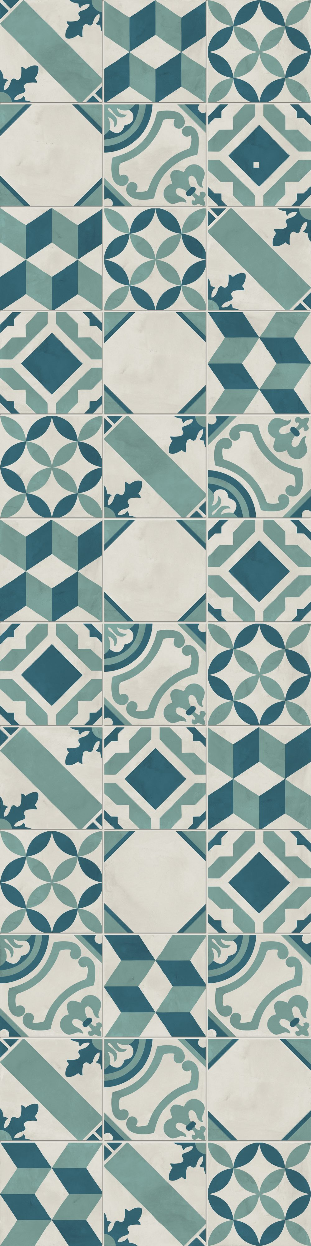 Moons Mix Patterned Tiles