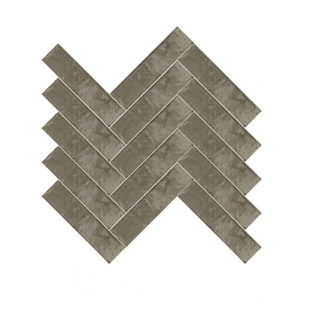 Lume Greige tiles in herringbone pattern