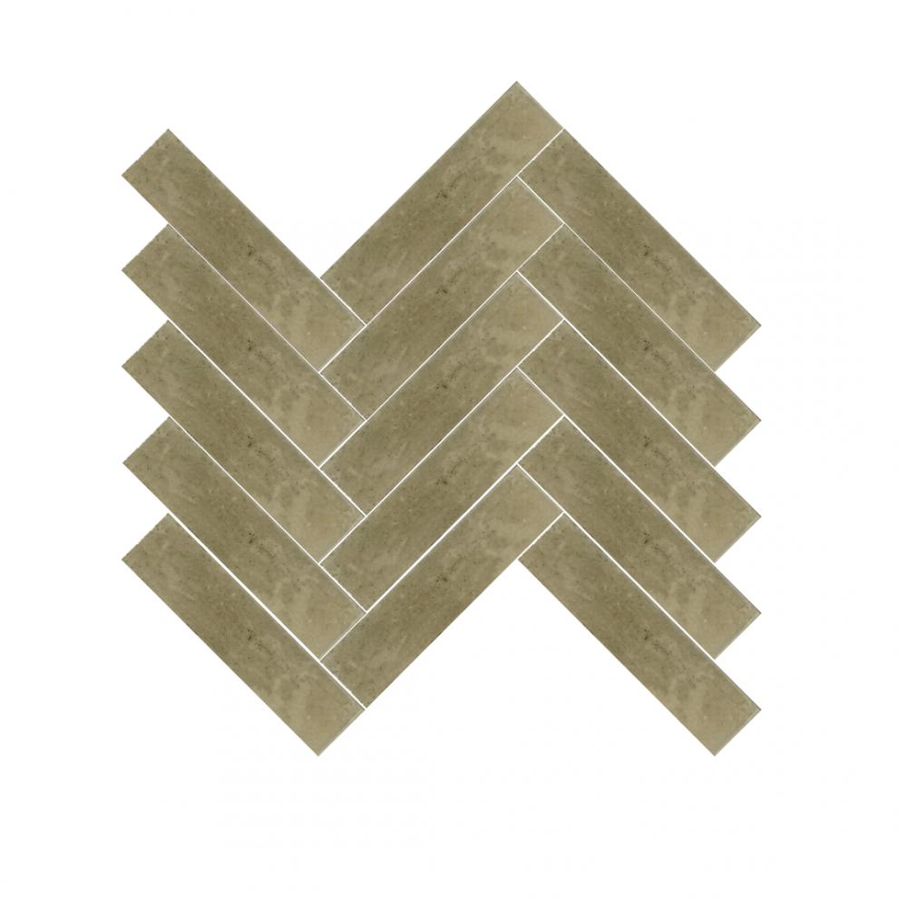 Lume Musk Metro tiles in herringbone pattern