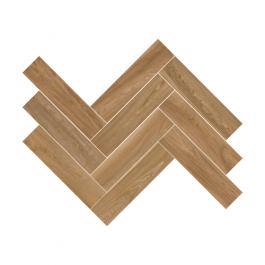 Herringbone Wood Brown