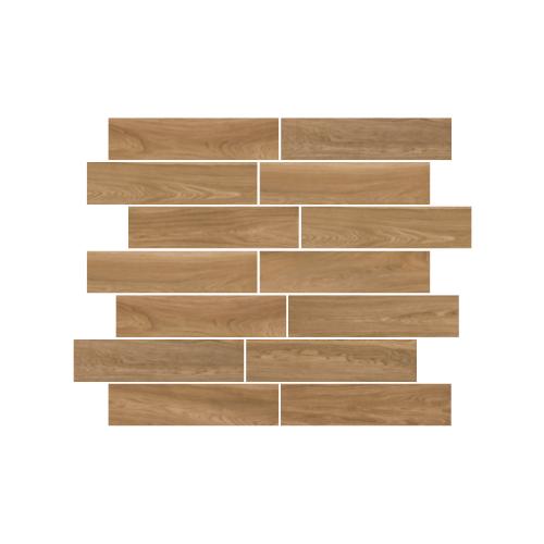 brown wood effect plank tiles