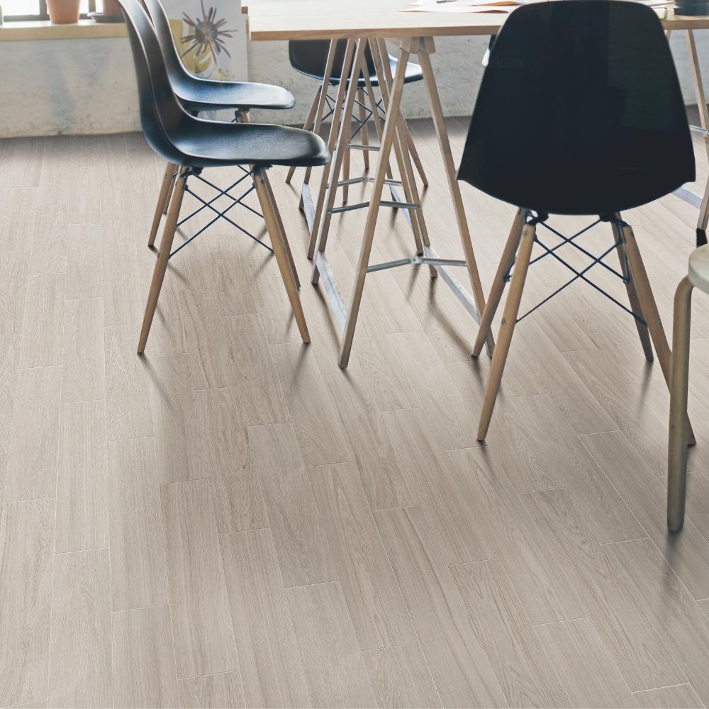 Herringbone Wood Effect White Tiles
