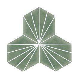 Stripes Hexagon Green