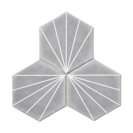 Stripes Hexagon Grey