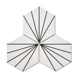 Stripes Hexagon White
