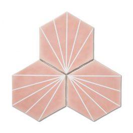 Stripes Hexagon Pink