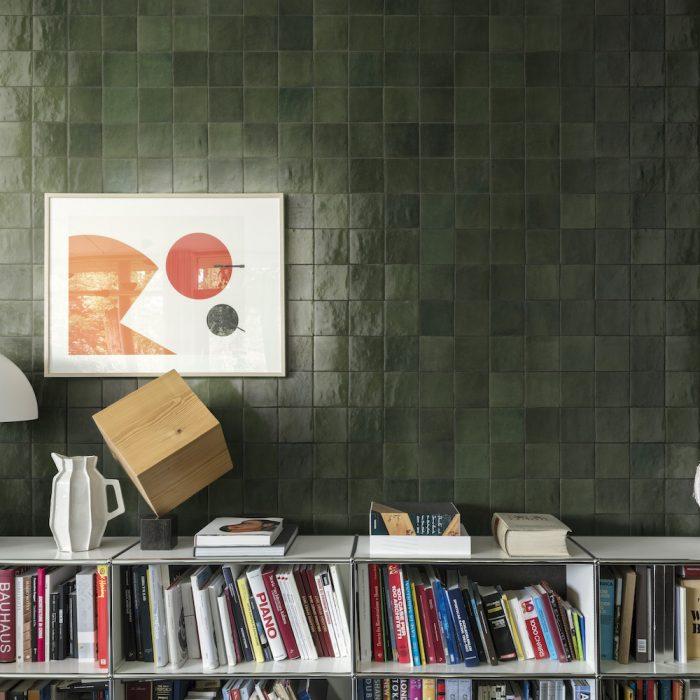 green zellige tiles
